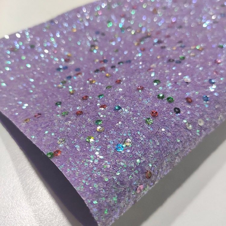 Shiny Metallic Sequin Chunky Glitter Fabric For Shoes Bags